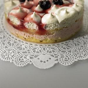 Pizzo rotondo in carta per dolci, Ø 16 cm, Bianco (confezione 100 pezzi)