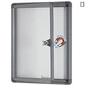 Planorga Mini vitrine d'extérieur cadre aluminium, fond métal laqué magnétique, 1 feuille A4