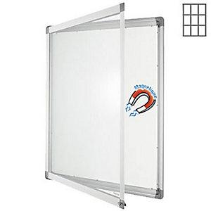 PLANORGA Vitrine intérieur cadre aluminium 9 feuilles A4 fond métal