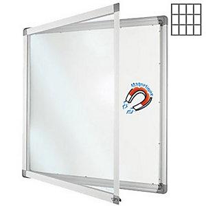 Planorga Vitrine d'intérieur NF haute sécurité 12 feuilles A4 fond Métal magnétique