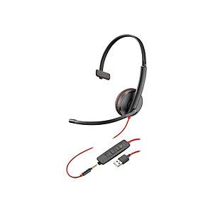 Plantronics Blackwire C3215 Auricular monoaural USB y jack 3,5 mm