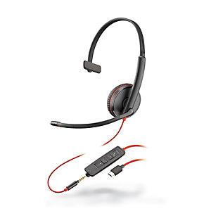 Plantronics Blackwire C3215 Auricular monoaural USB-C y jack 3,5 mm