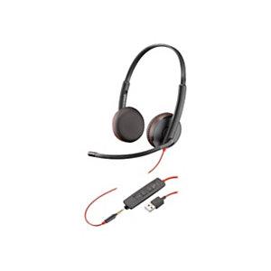 Plantronics Blackwire C3225 Auriculares estéreo USB y jack 3,5 mm