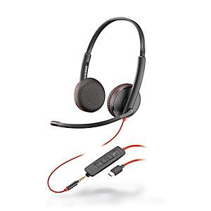 Plantronics Blackwire C3225 Auriculares estéreo USB-C y jack 3,5 mm