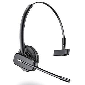 Plantronics Casque DECT sans fil/oreillette contour d'oreille C565 avec micro sur tige anti-bruits et commandes sur cordon noir