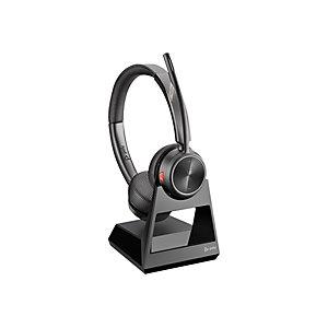 Plantronics Savi 7220 - Casque sans fil professionnel pour téléphone fixe - 2 écouteurs - Micro anti-bruit - Noir