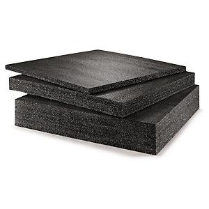 Plaque mousse polyéthylène Noir - haute densité 28 kg/m3