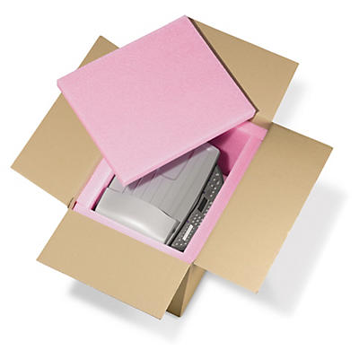 Plaque mousse polyéthylène Rose - antistatique 28 kg/m3