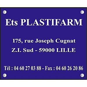 Plaque personnalisée acrylique 1 ligne 30 x 20 cm