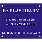 Plaque personnalisée acrylique 1 ligne 40 x 30 cm
