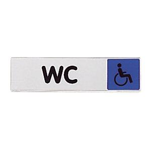 Plaquette de signalisation des wc pour handicapés 17 x 4 cm