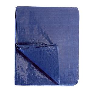 Plastic beschermzeil met oogjes  4 x 3m