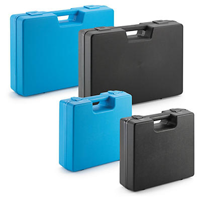 Plastic cases with integral handles