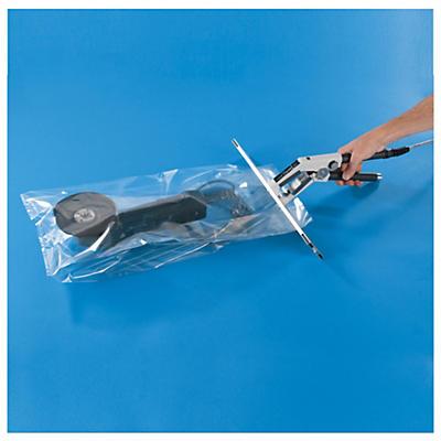 Sachet plastique à soufflets 200 microns##Plastic zak met zijvouwen 200 micron