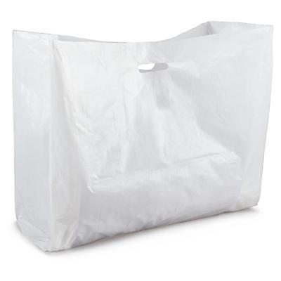 Sac à poignées découpées simples maxi volume##Plastik-Tragetasche für voluminöse Produkte