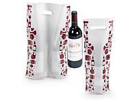 Plastik-Tragetaschen Weinmotiv mit verstärktem Griffloch