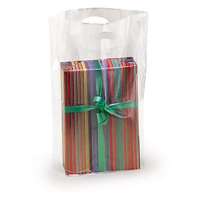 Plastikposer med udstansede håndtag
