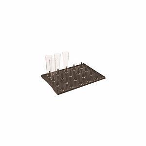 Plateau en plastique noir pour flûtes ou verres LUX by Starck