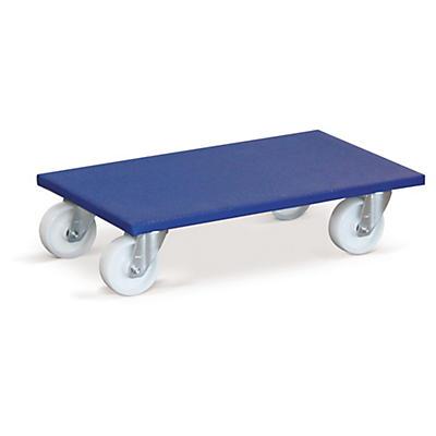 Plateau roulant avec revêtement bleu antidérapant##Transportroller mit Antirutsch-Beschichtung