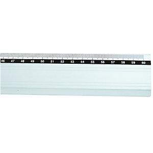Platte lat in aluminium lengte 60 cm