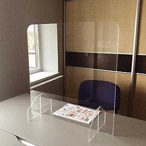 Plexiglas scherm voor balie of bureau zonder doorgeefsleuf