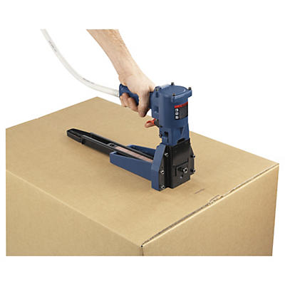 Pneumatic box staplers