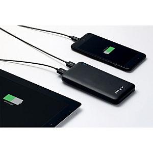 PNY Power Pack Slim 10000 Batterie externe /chargeur de téléphone portable 10000 mAh, 2 ports USB - Noir