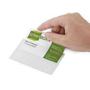 Pochette adhésive pour carte de visite DURABLE
