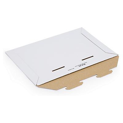 Pochette blanche en carton avec languettes