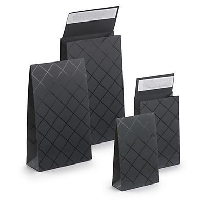 Pochette cadeau noire à fermeture adhésive