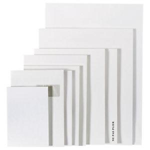 Pochette dos carton blanche  auto-adhésive