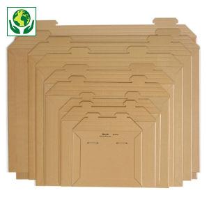 Pochette carton micro-cannelé recyclé brune RAJA
