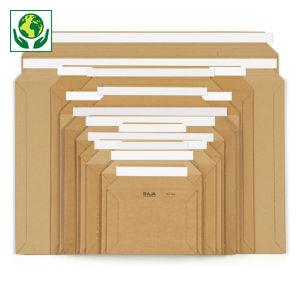 Pochette carton micro-cannelé brune à fermeture adhésive RAJA