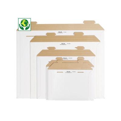 Pochette carton microcannelure rigide 100% recyclé blanche RAJAMAIL