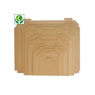 Pochette carton microcannelure rigide 100% recyclé brune RAJA