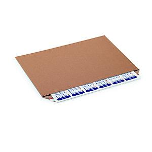 Pochette carton plat recyclée brune fermeture bande adhésive - l.int .45,8 x H.32,8 cm