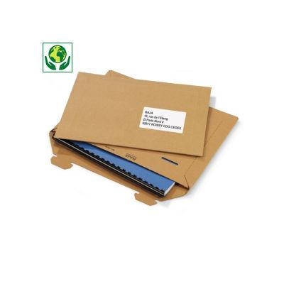 Pochette carton rigide - brun##Versterkte kartonnen envelop - bruin