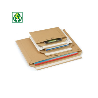 Pochette carton rigide à fermeture adhésive - brun##Versterkte kartonnen envelop met zelfklevende sluiting - bruin