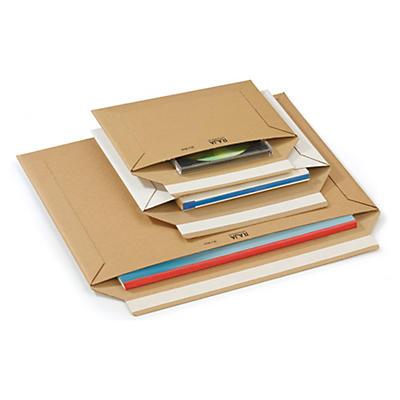 Pochette en carton Rigipack® brune et blanche##Weisse und braune Rigipack® Karton-Versandtaschen