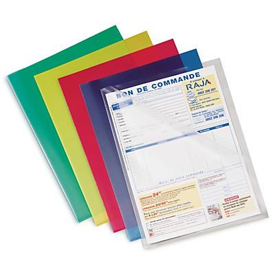 Pochette coin colorée##Gekleurde transparante L-mapjes