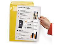 Pochette jaune d'affichage industrielle bande magnétique