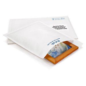 Pochette matelassée blanche 18x26,5 cm, lot de 100
