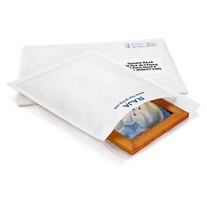 Pochette matelassée blanche 27x36 cm, lot de 100