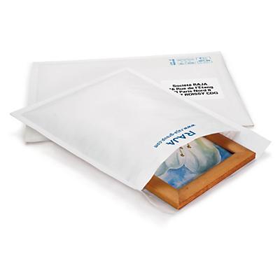 Pochette matelassée blanche RAJA##Weisse Luftpolster-Versandtaschen RAJA