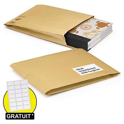 Pochette matelassée papier 100 % recyclé##Gewatteerde papieren envelop 100% gerecycleerd