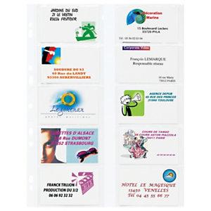 Pochette perforée pour cartes de visite ELBA