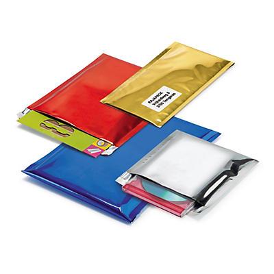 Pochette plastique métallisée couleur, effet brillant