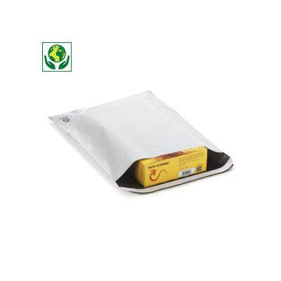 Pochette plastique opaque 60% recyclé RAJA