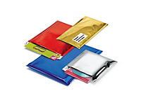 Pochette plastique opaque couleur métallisée