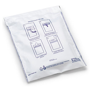 Pochette plastique opaque de sécurité 60 microns RAJA